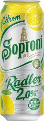 Soproni Radler Citrom 2% dobozos 0.5