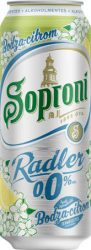 Soproni Radler Bodza-Citrom alk.mentes dob. 0.5 (0%)