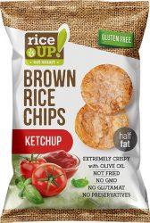 Rice Up Ketchup ízű rizs chips 60g        24/#