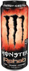 Monster Rehab Peach energiaital  0.5    12/#